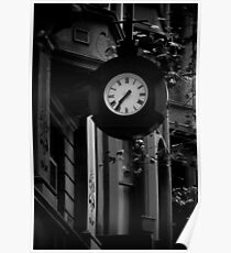 Collins st Clock Poster