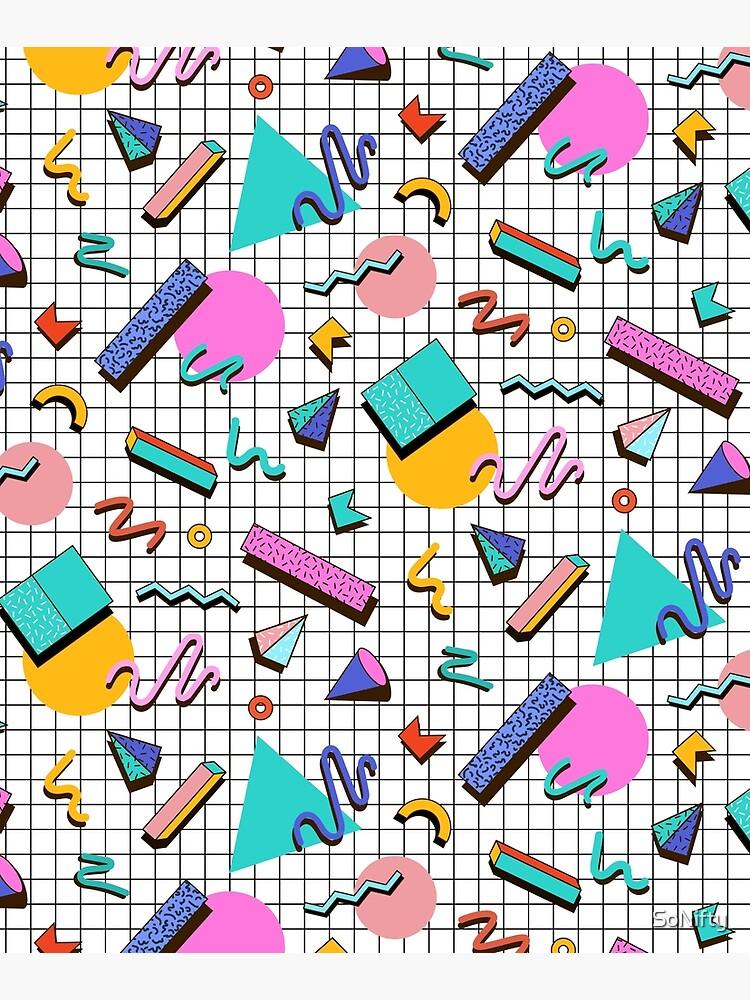Funky 80s eighties Memphis Pattern Design by SoNifty