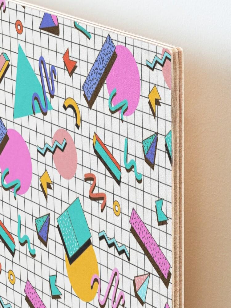Alternate view of Funky 80s eighties Memphis Pattern Design Mounted Print