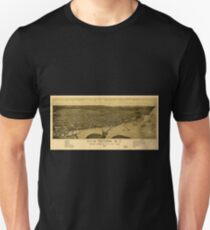Panoramic Maps City of Tacoma WT western terminus of NPRR Puget Sound 1885 T-Shirt