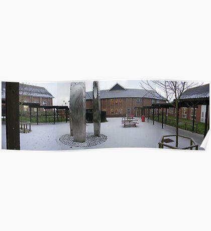 Snow at the Thomas Hardye School Poster
