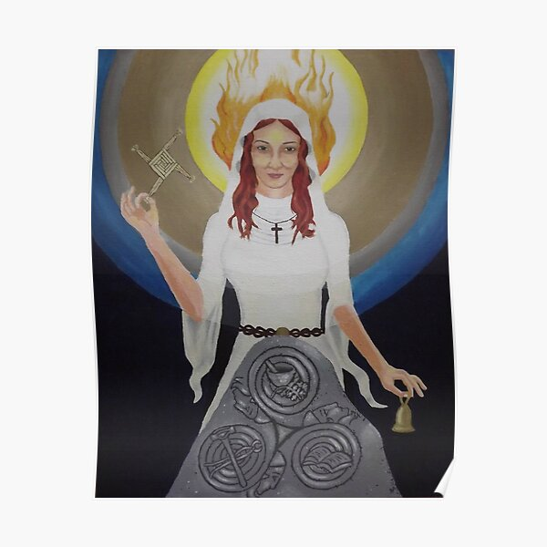 Brigid - Saint and Goddess Poster
