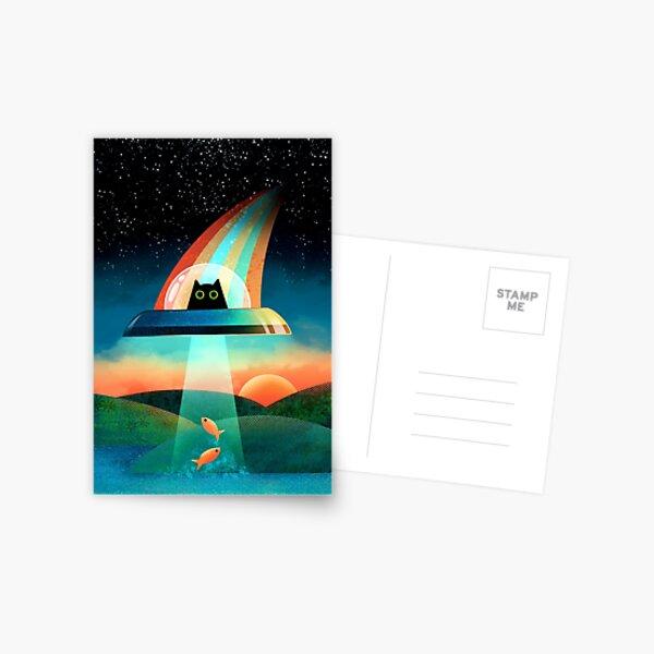 The Purrfect Alien  Postcard