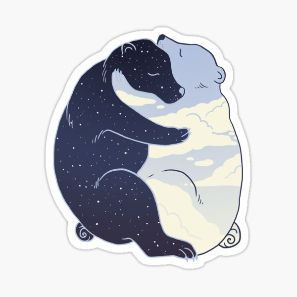 Day and Night Sticker
