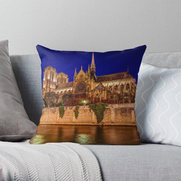 Notre-Dame Rose Window Throw Pillow