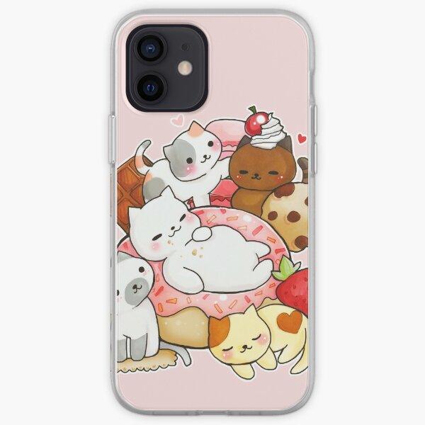 Neko Atsume sweet cats iPhone Soft Case