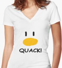 quack quack quack Women's Fitted V-Neck T-Shirt