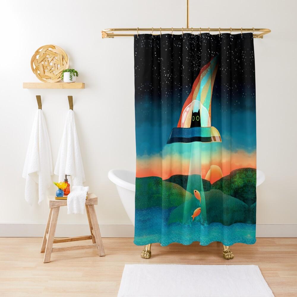 The Purrfect Alien  Shower Curtain