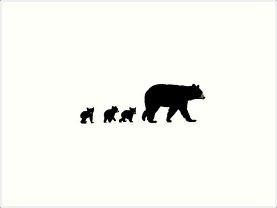 u0026quot mama bear and her cubs   u0026quot  art prints by art landing
