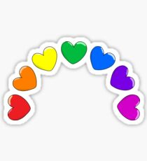 Heart Rainbow Sticker