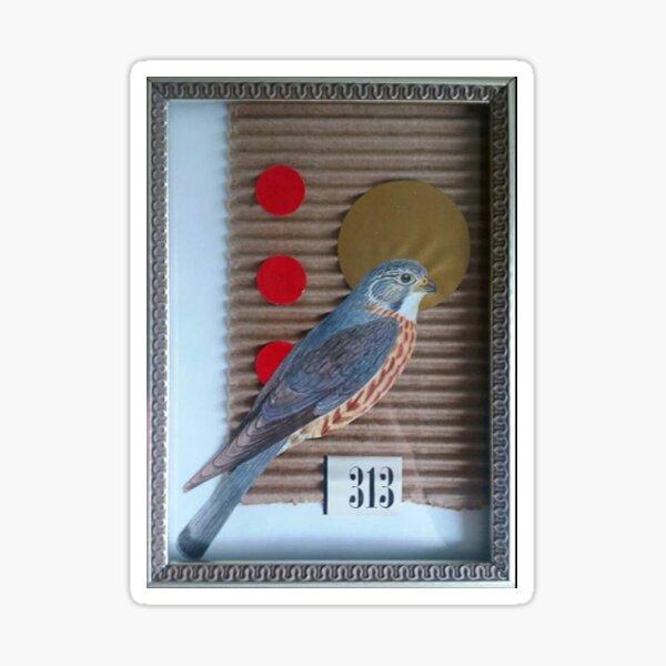 Corrugated Hawk Sticker