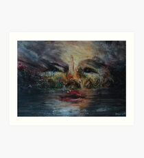 Illusions in the park. Art Print