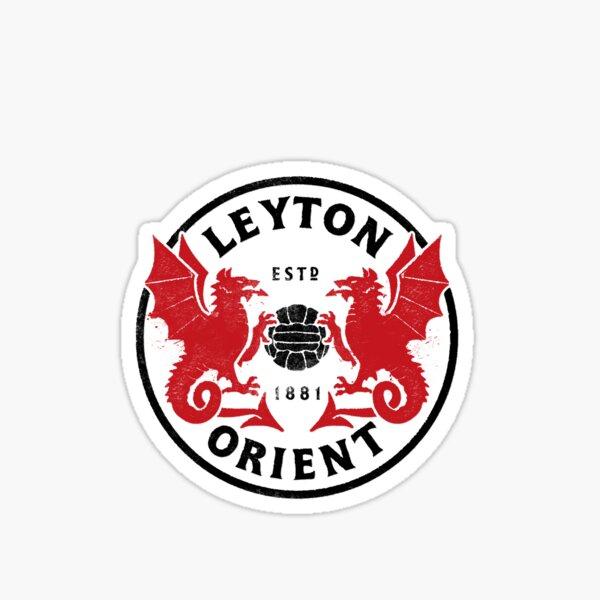 Reimagined Modern Classic Leyton Orient Football Badge Sticker