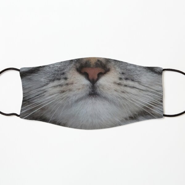Grey Black Tabby Cat Face Protective Mask Kids Mask