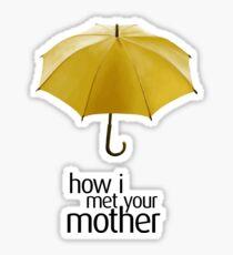 Yellow Umbrella. How I Met Your Mother. Sticker
