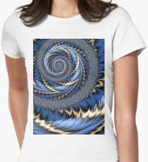 Blue Gold Spiral Abstract T-Shirt
