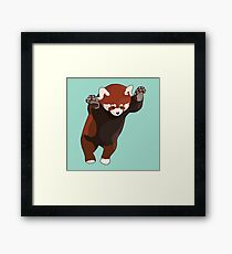 Red Panda Excited Framed Print