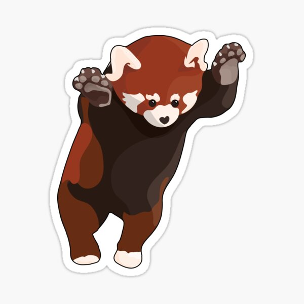 Red Panda Excited Sticker