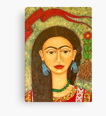 My homage to Frida Kahlo Canvas Print