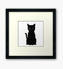 Kitten Eyes Framed Print