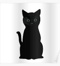 Kitten Eyes Poster