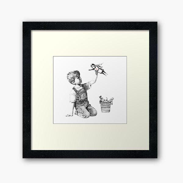 NHS Superhero Banksy Framed Art Print