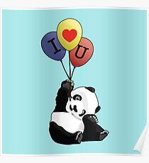 I Love You Panda Poster