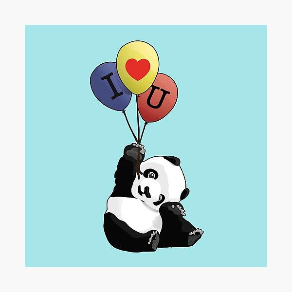 Je t'aime Panda Impression photo