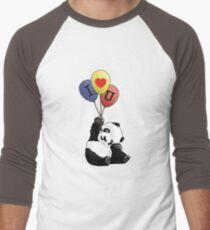I Love You Panda Men's Baseball ¾ T-Shirt