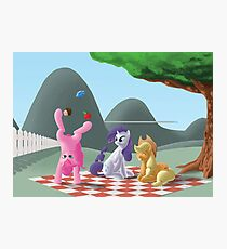 A pony picknick in the summer sun Photographic Print
