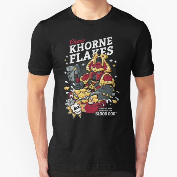 Chaos Khorne Flakes - Warhammer - Cereal - 40K Slim Fit T-Shirt