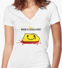 Utopia - Where Is Jessica Hyde? Women's Fitted V-Neck T-Shirt