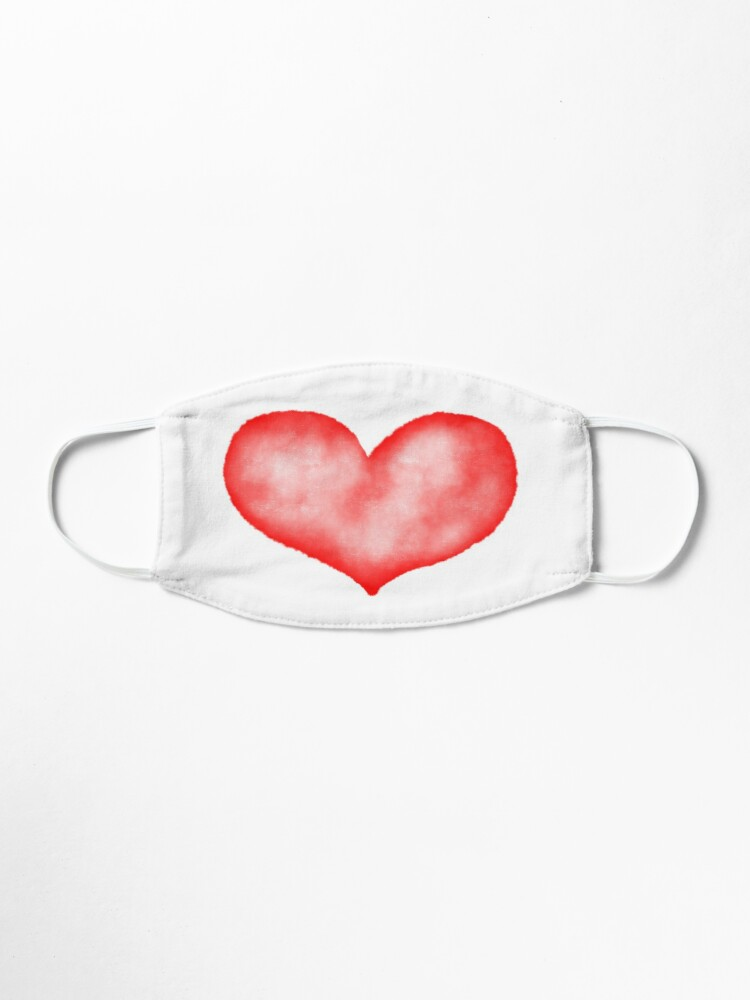 Alternate view of Watercolor heart Mask