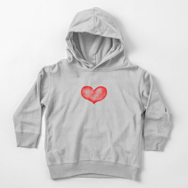 Watercolor heart Toddler Pullover Hoodie