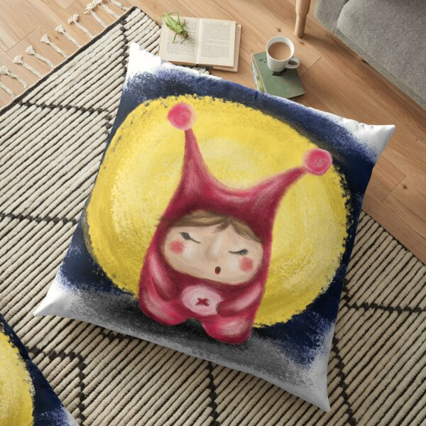 little sleeping monster Floor Pillow