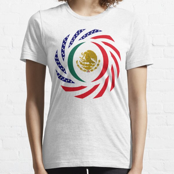 Mexican American Multinational Patriot Flag Series Essential T-Shirt