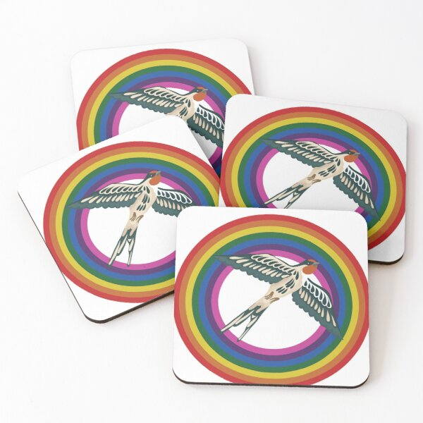 Sparrows and Rainbows Coasters (Set of 4)