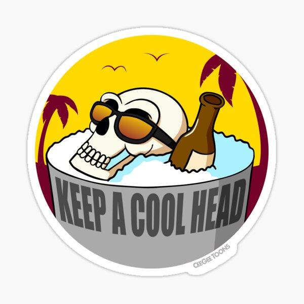 Skull 'Keep a Cool Head' Sticker