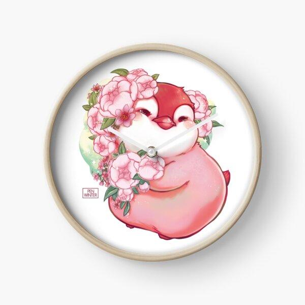 chuBBY emperor penguin flower princess Clock