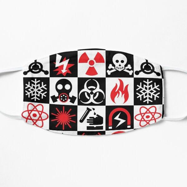 Hazard Danger Icons Flat Mask