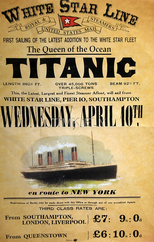 Quot Titanic Quot Posters By Timkiely Redbubble