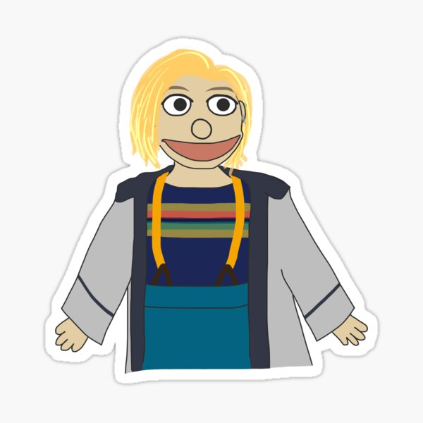 Thirteenth Doctor Muppet Style Sticker