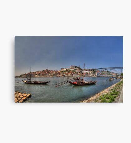 Porto - Rabelos Canvas Print