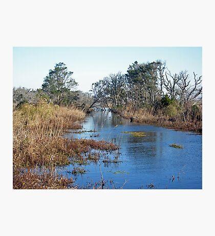 Tidal Creek - Outer Banks North Carolina Photographic Print