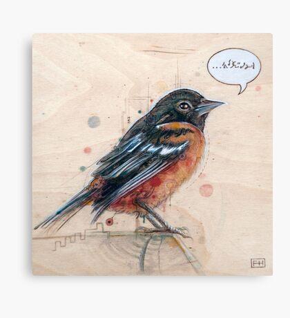 A Bird for Kurt Canvas Print