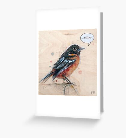 A Bird for Kurt Greeting Card