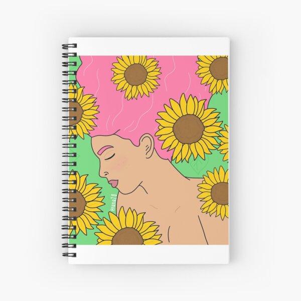 Sunflower girl Spiral Notebook