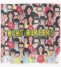 Bobs burgers collage  Poster