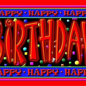 Happy Birthday, Caption Card by arbogast0657