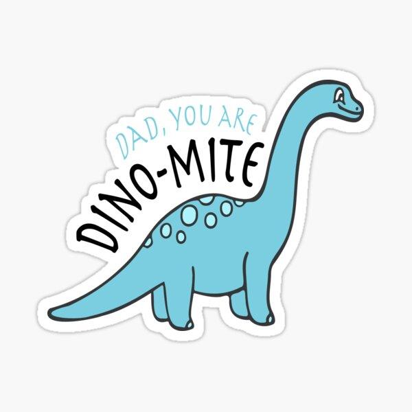 Dinomite Laptop Stickers T-Rex Illustration Sticker Tyrannosaurus Rex Dinosaur Decals